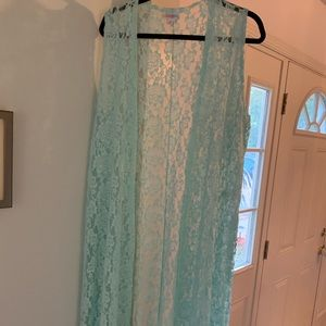 LulaRoe Mint Green Lace Joy